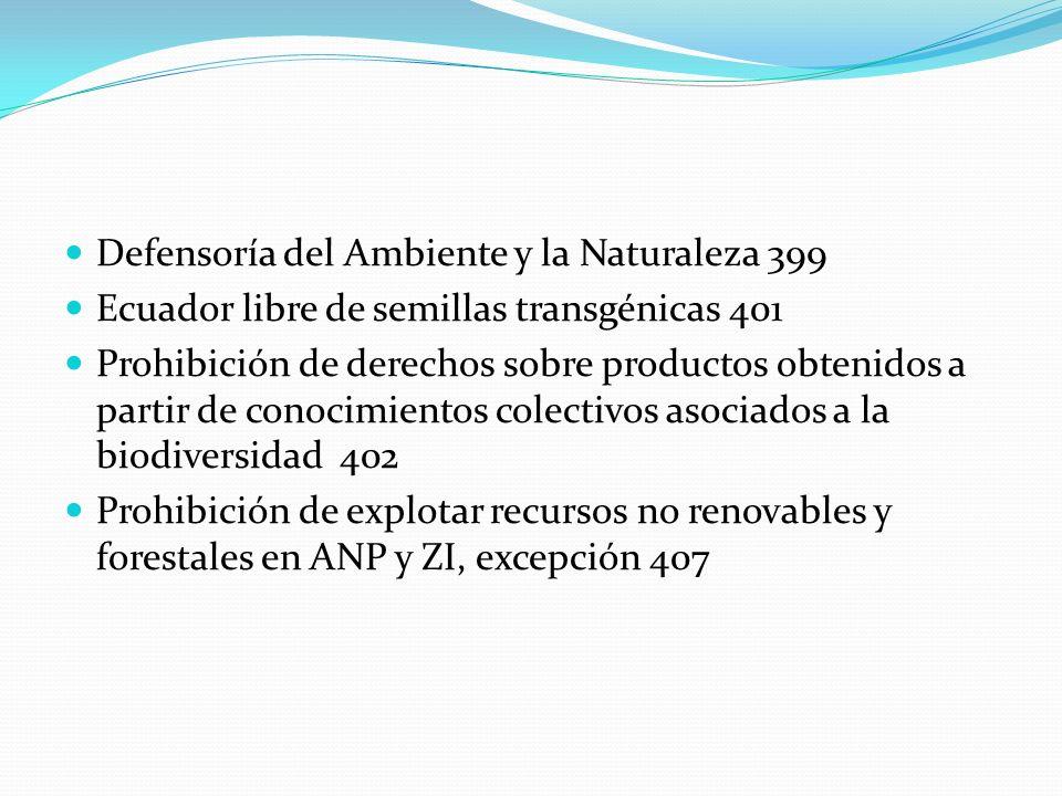 Defensoría del Ambiente y la Naturaleza 399