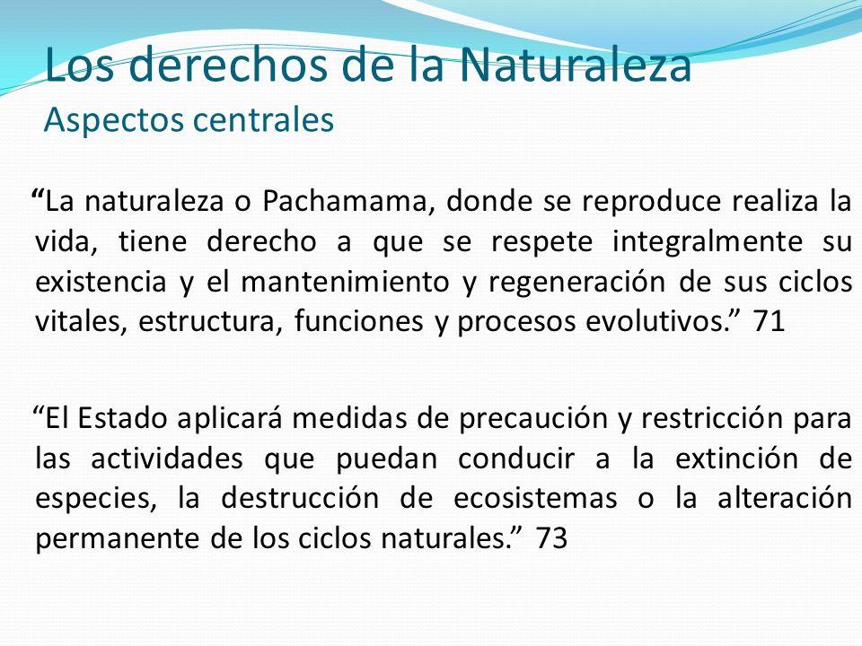 Los derechos de la Naturaleza Aspectos centrales