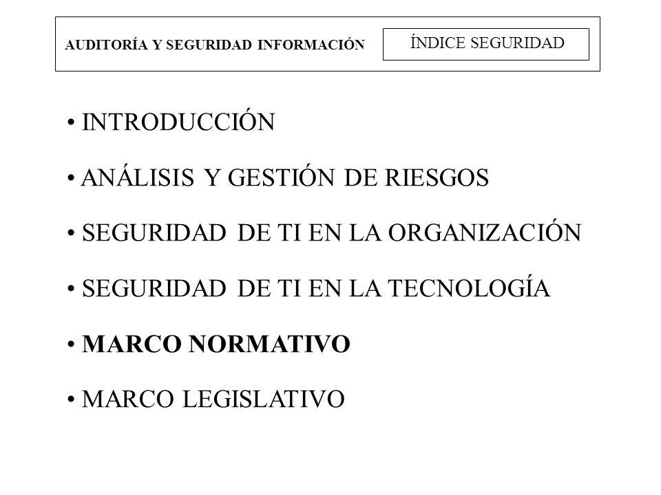 ANÁLISIS Y GESTIÓN DE RIESGOS SEGURIDAD DE TI EN LA ORGANIZACIÓN