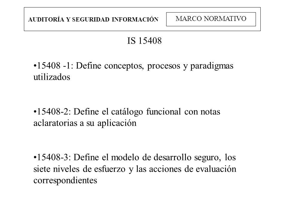 15408 -1: Define conceptos, procesos y paradigmas utilizados
