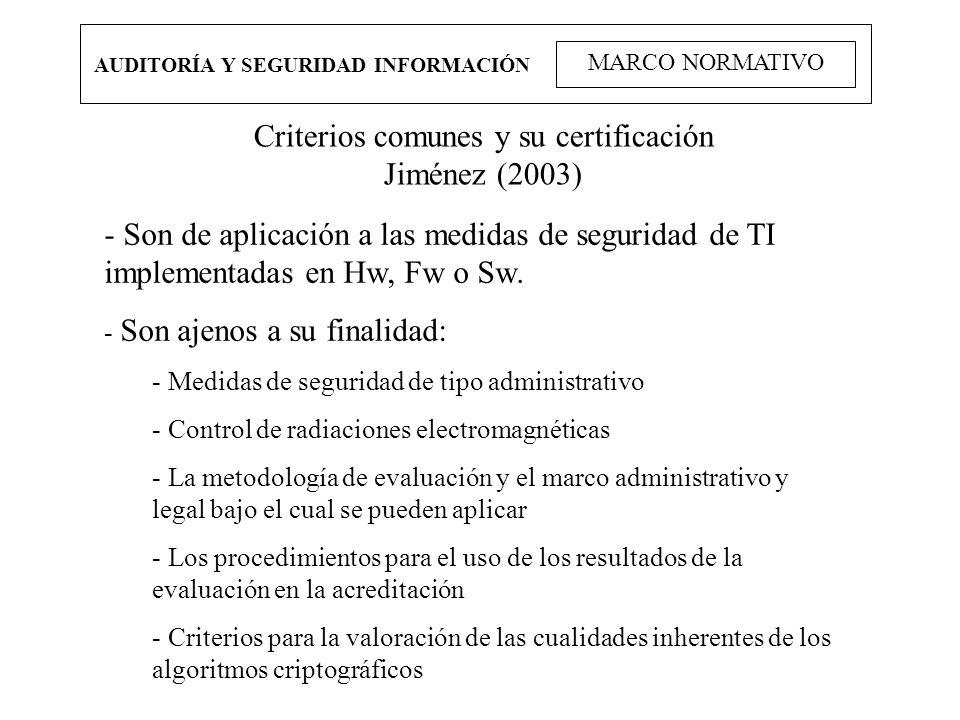 Criterios comunes y su certificación