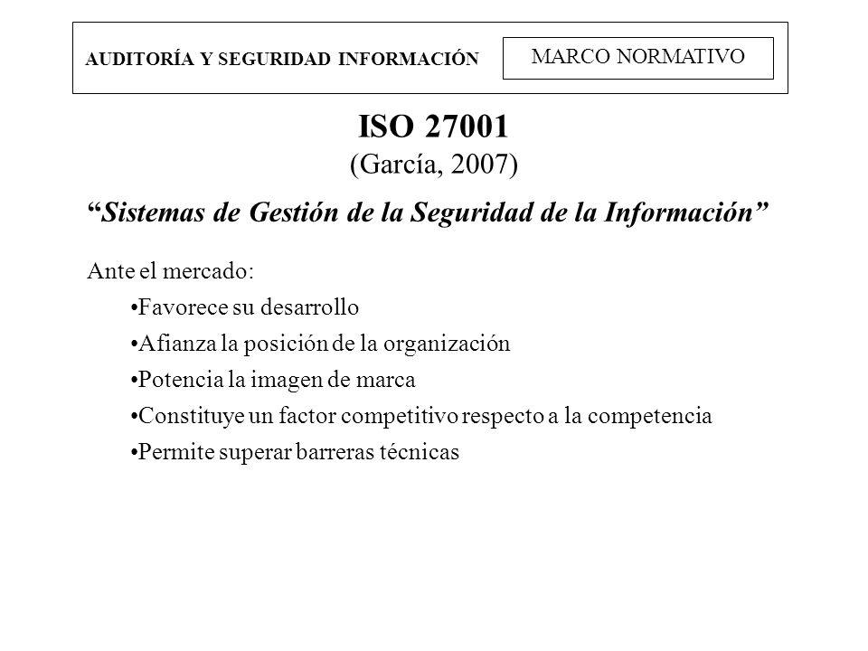 AUDITORÍA Y SEGURIDAD INFORMACIÓN