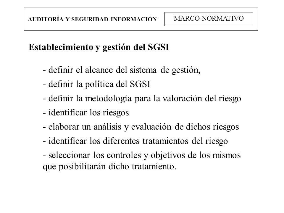 Establecimiento y gestión del SGSI