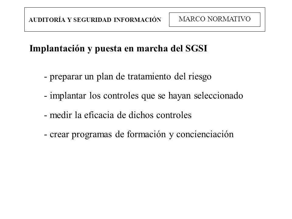 Implantación y puesta en marcha del SGSI