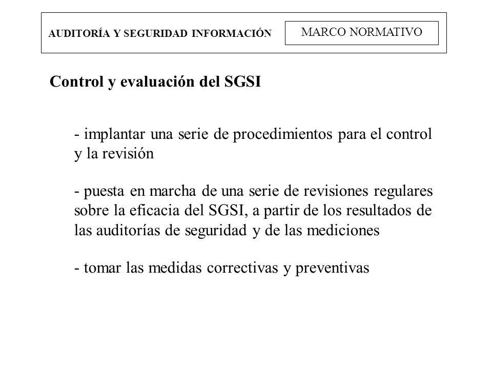 Control y evaluación del SGSI