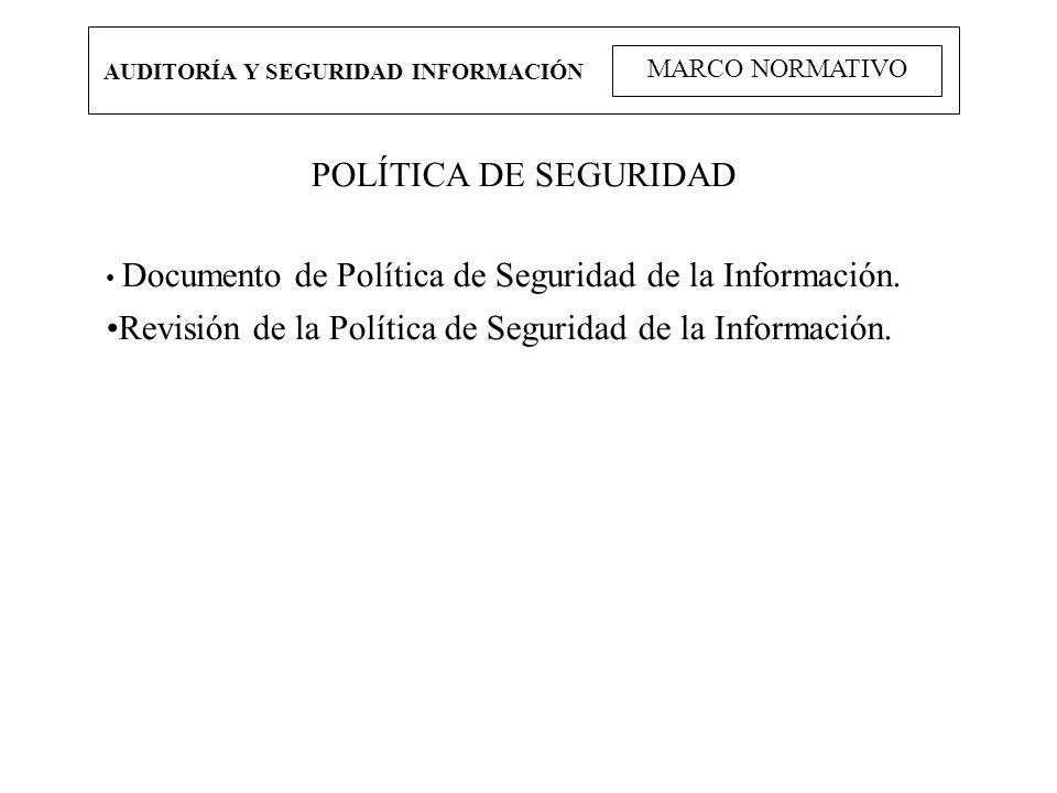 Revisión de la Política de Seguridad de la Información.