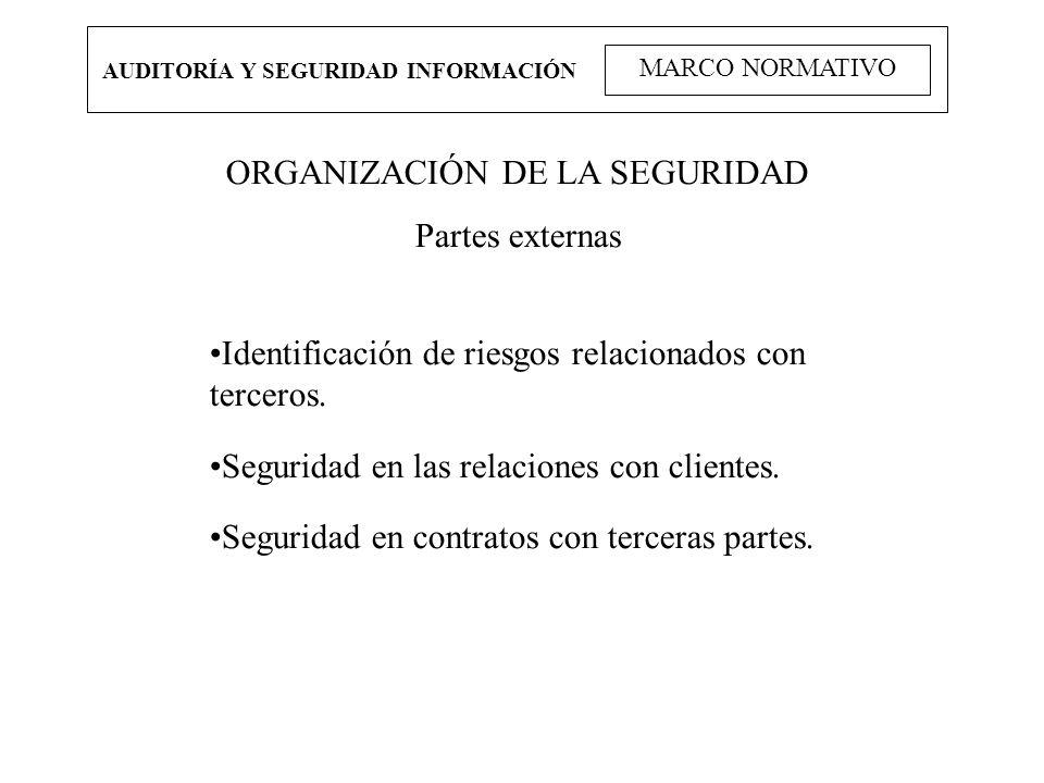 ORGANIZACIÓN DE LA SEGURIDAD