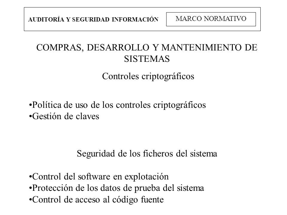 COMPRAS, DESARROLLO Y MANTENIMIENTO DE SISTEMAS