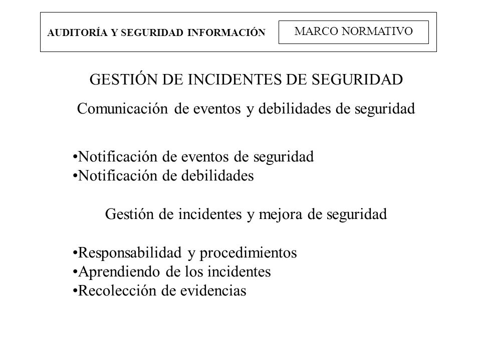 GESTIÓN DE INCIDENTES DE SEGURIDAD