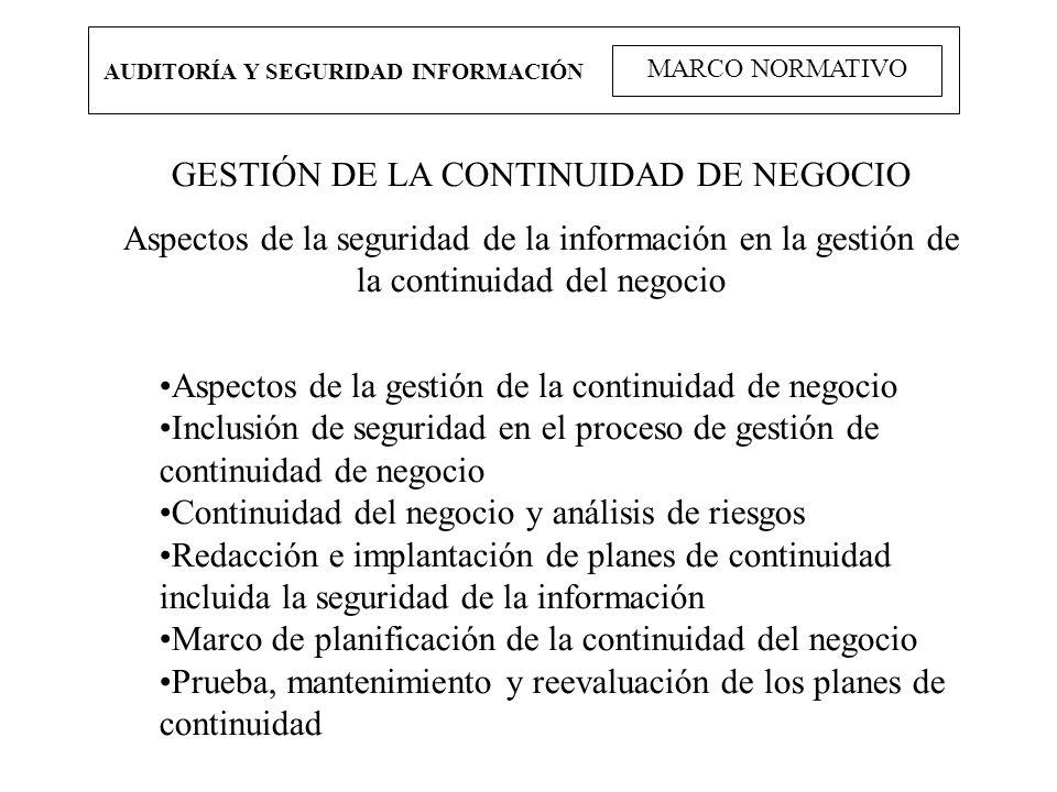 GESTIÓN DE LA CONTINUIDAD DE NEGOCIO