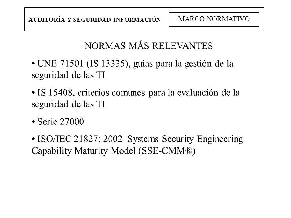 UNE 71501 (IS 13335), guías para la gestión de la seguridad de las TI