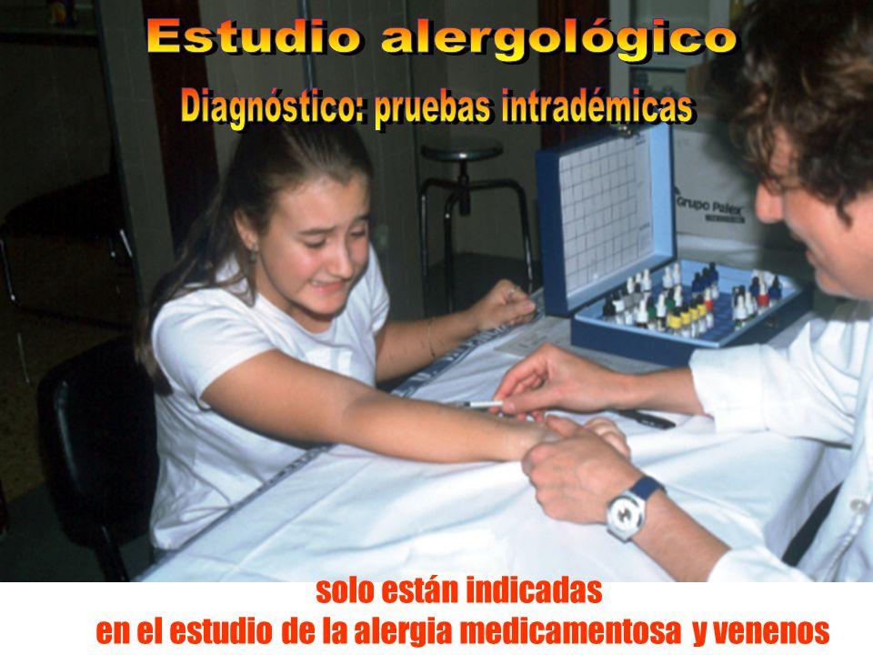 en el estudio de la alergia medicamentosa y venenos