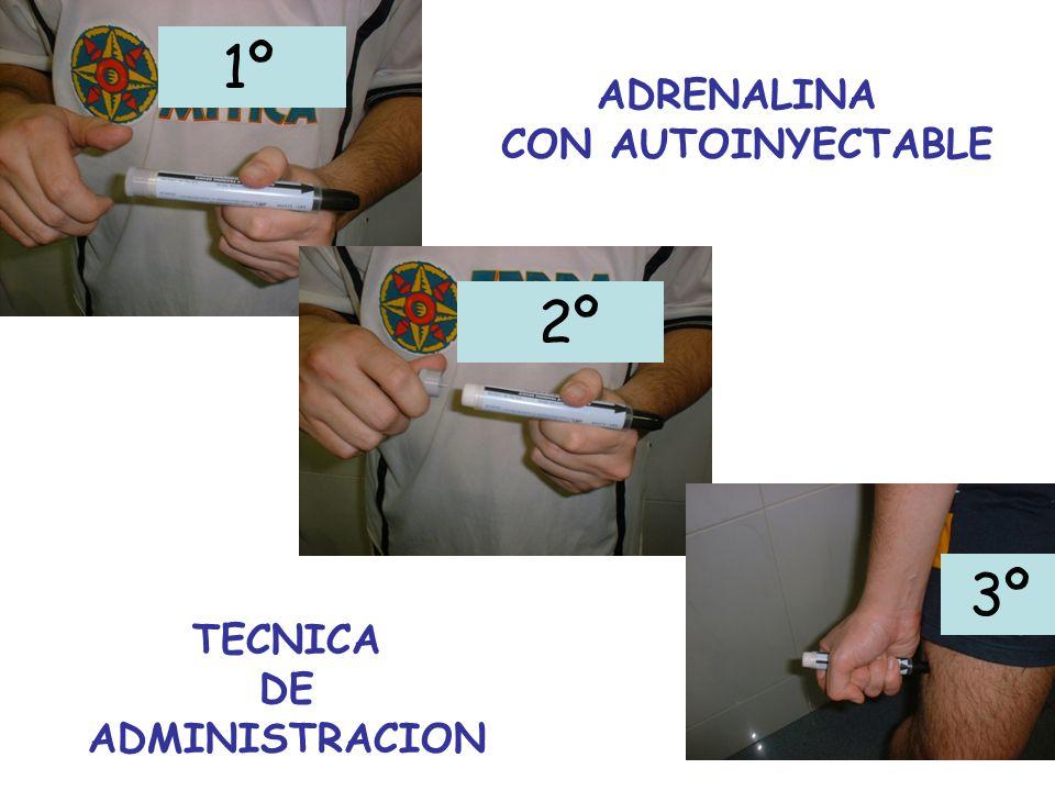 1º ADRENALINA CON AUTOINYECTABLE 2º 3º TECNICA DE ADMINISTRACION