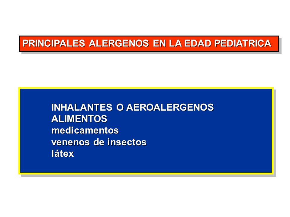 PRINCIPALES ALERGENOS EN LA EDAD PEDIATRICA