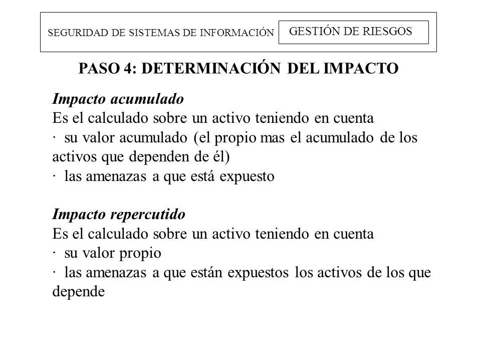 PASO 4: DETERMINACIÓN DEL IMPACTO