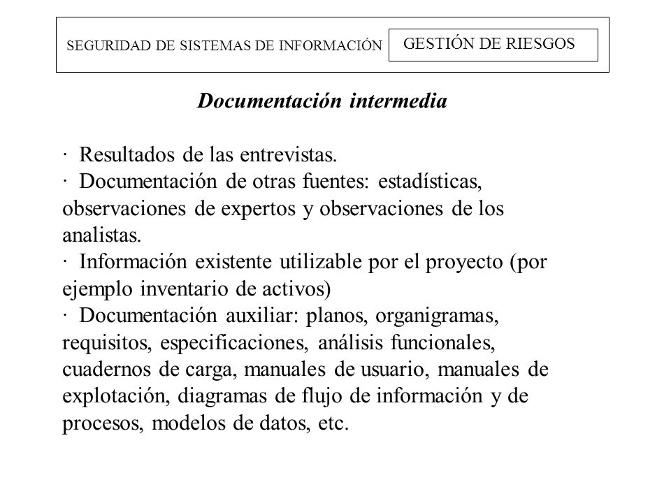 Documentación intermedia