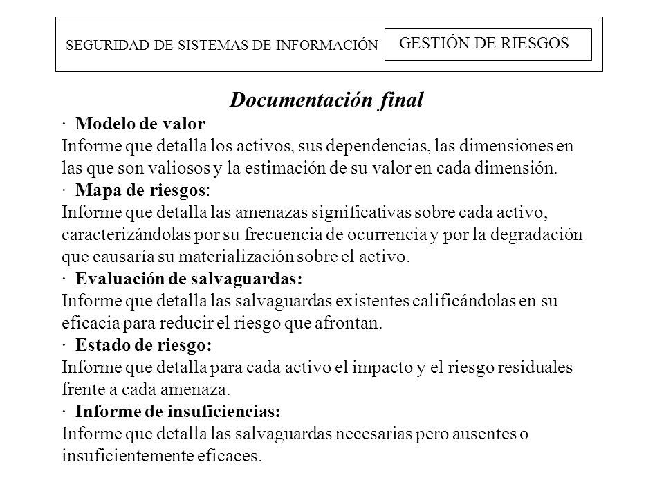 Documentación final · Modelo de valor