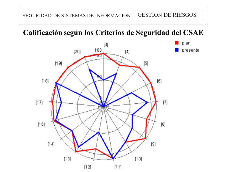 Calificación según los Criterios de Seguridad del CSAE