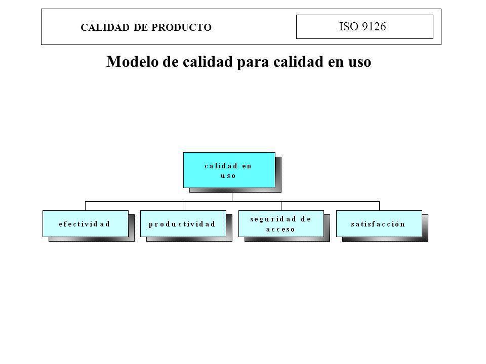 Modelo de calidad para calidad en uso