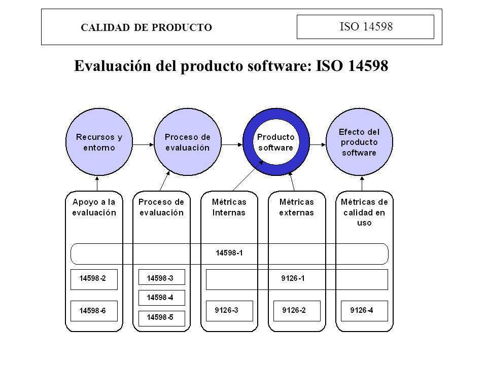 Evaluación del producto software: ISO 14598