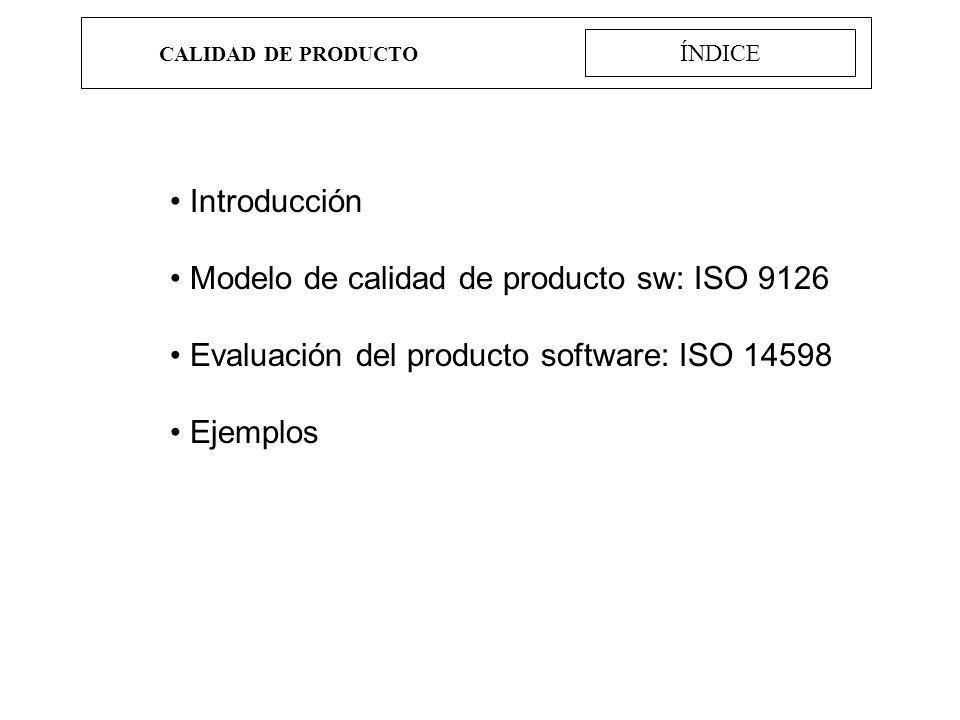Modelo de calidad de producto sw: ISO 9126