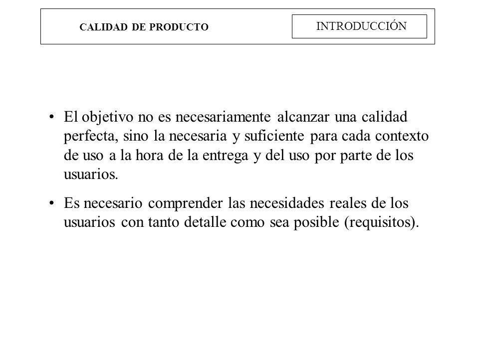 CALIDAD DE PRODUCTO INTRODUCCIÓN.