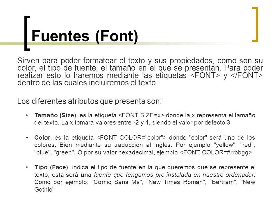 Fuentes (Font)