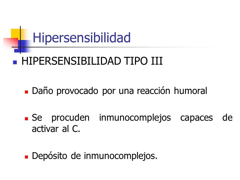 Hipersensibilidad HIPERSENSIBILIDAD TIPO III