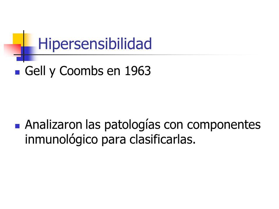Hipersensibilidad Gell y Coombs en 1963