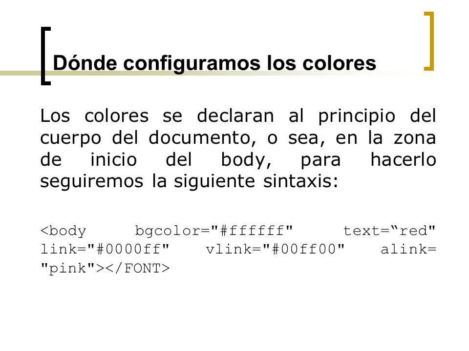 Dónde configuramos los colores