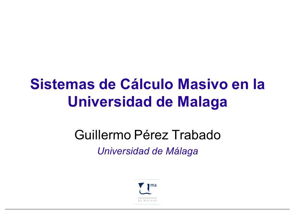 Sistemas de Cálculo Masivo en la Universidad de Malaga