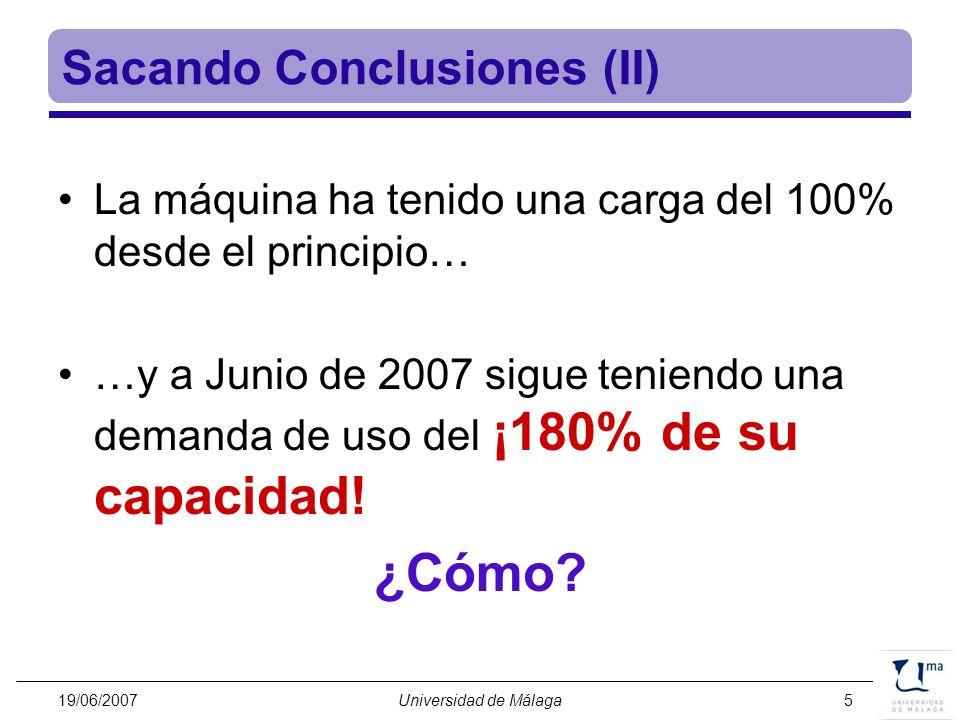 Sacando Conclusiones (II)