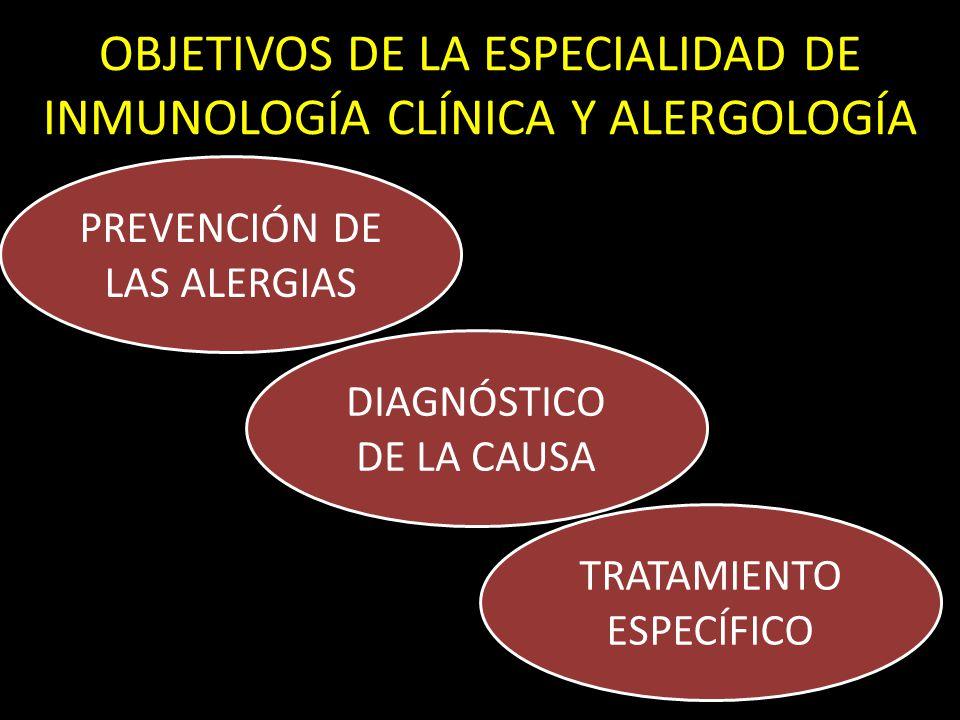 OBJETIVOS DE LA ESPECIALIDAD DE INMUNOLOGÍA CLÍNICA Y ALERGOLOGÍA