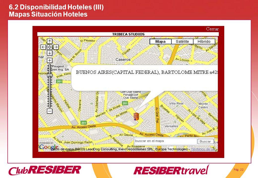 6.2 Disponibilidad Hoteles (III) Mapas Situación Hoteles