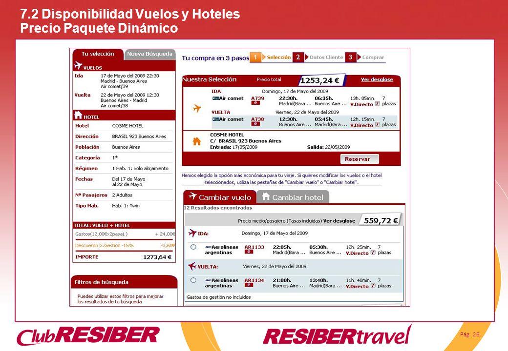 7.2 Disponibilidad Vuelos y Hoteles Precio Paquete Dinámico