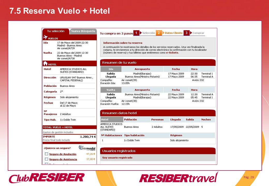 7.5 Reserva Vuelo + Hotel