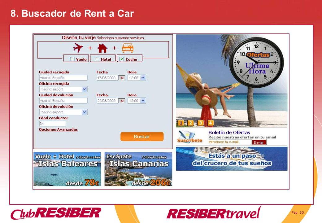 8. Buscador de Rent a Car