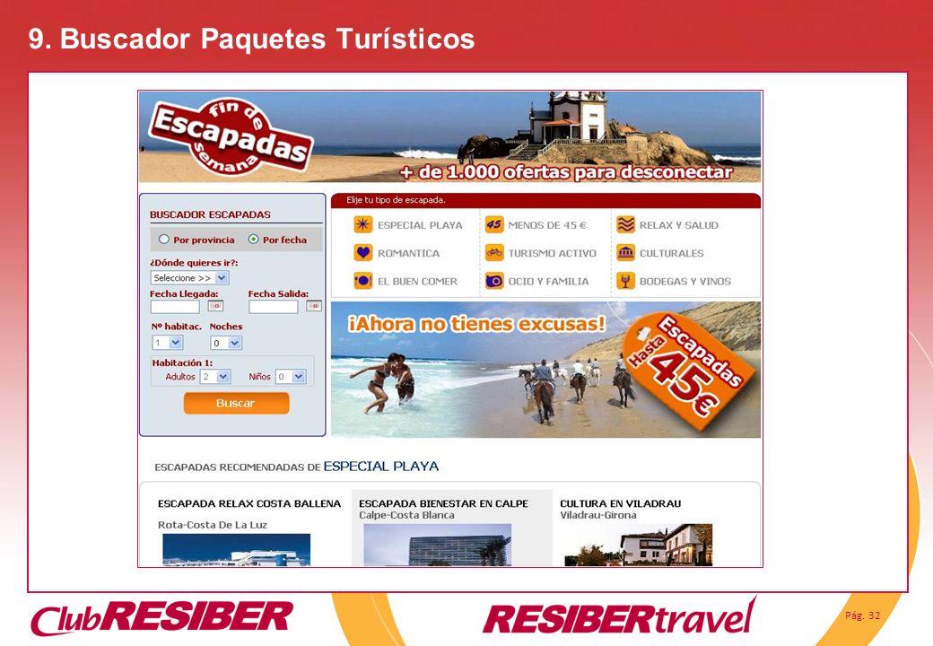 9. Buscador Paquetes Turísticos
