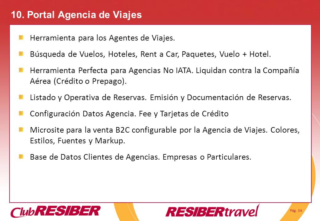 10. Portal Agencia de Viajes