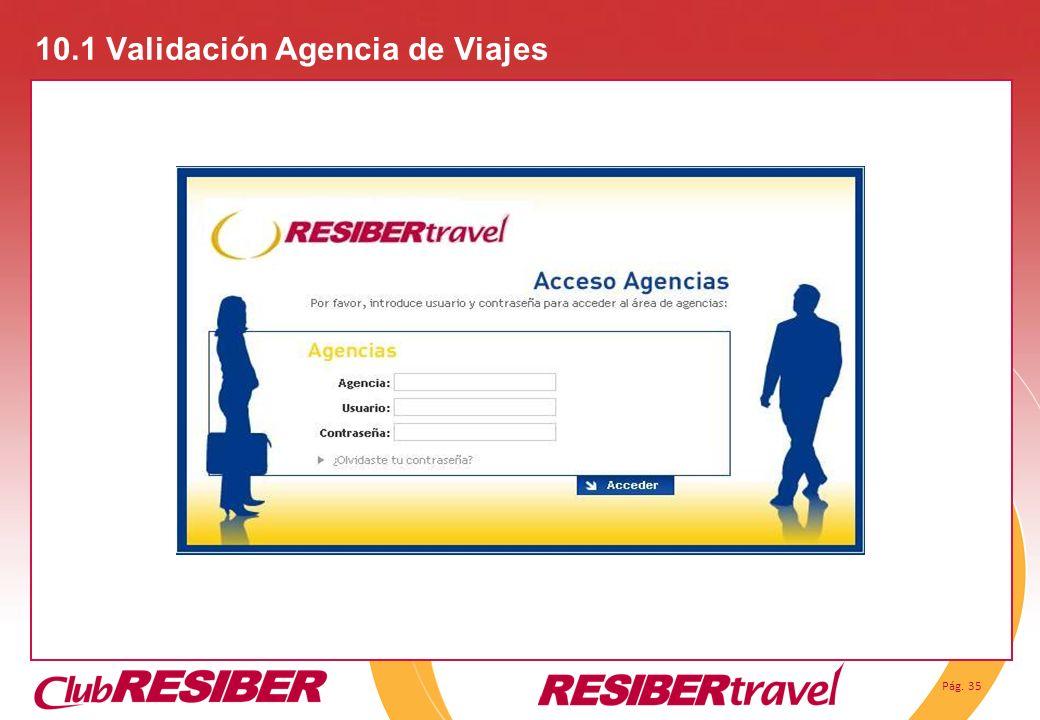 10.1 Validación Agencia de Viajes