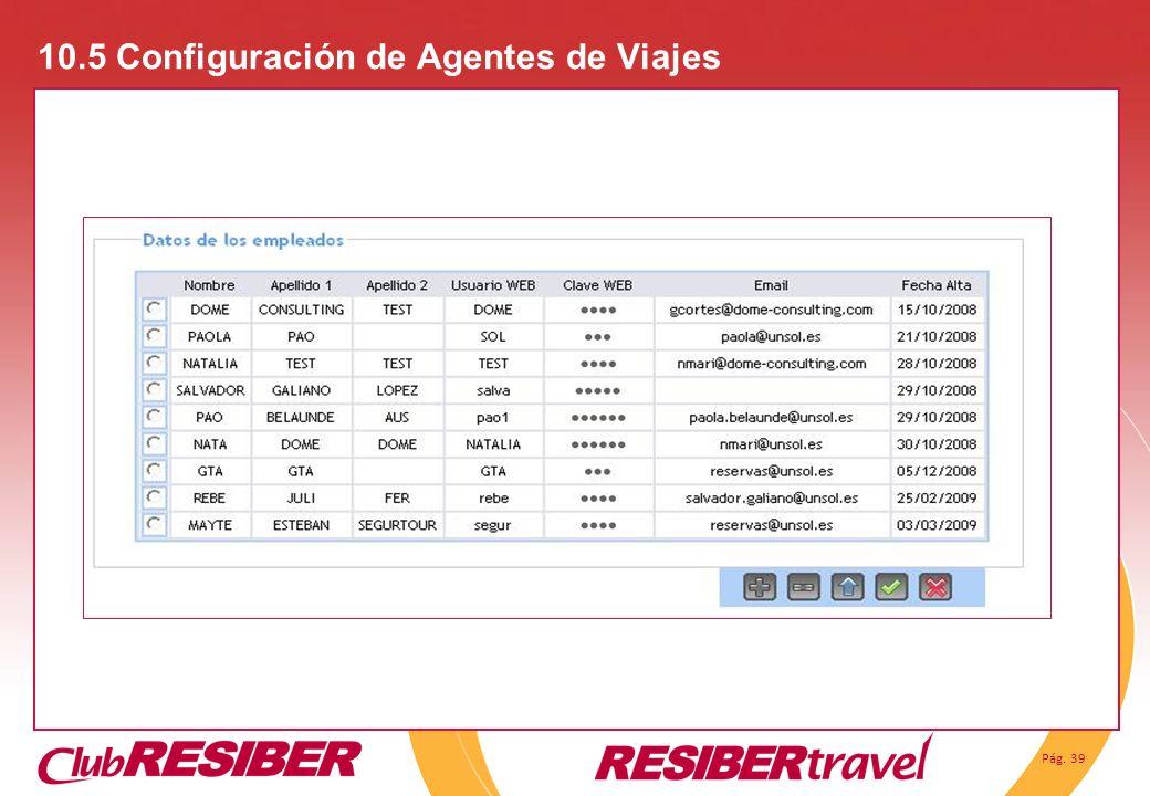 10.5 Configuración de Agentes de Viajes
