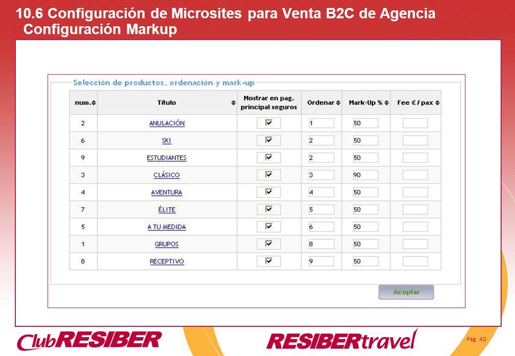 10. 6 Configuración de Microsites para Venta B2C de Agencia