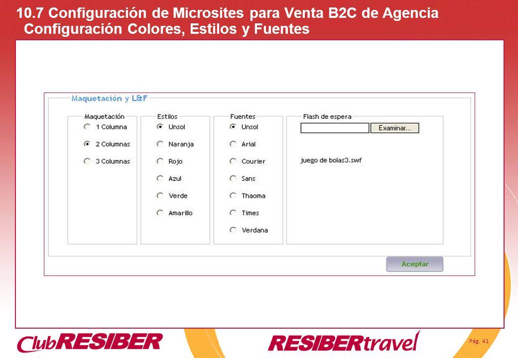 10. 7 Configuración de Microsites para Venta B2C de Agencia