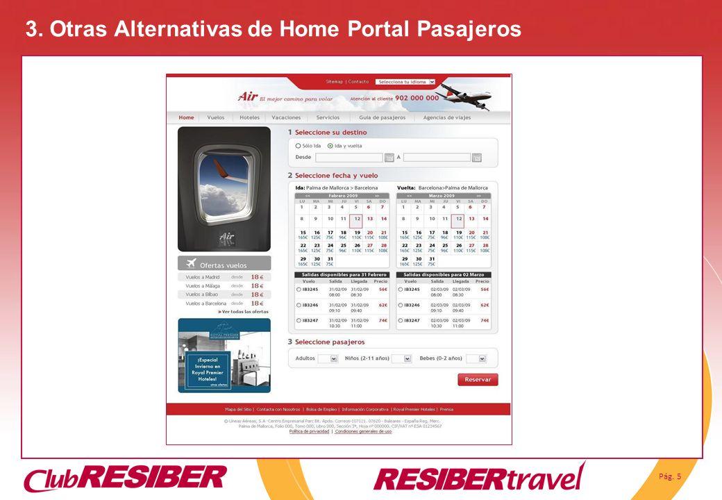 3. Otras Alternativas de Home Portal Pasajeros
