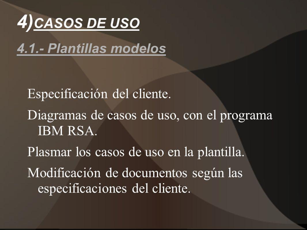 4)CASOS DE USO 4.1.- Plantillas modelos