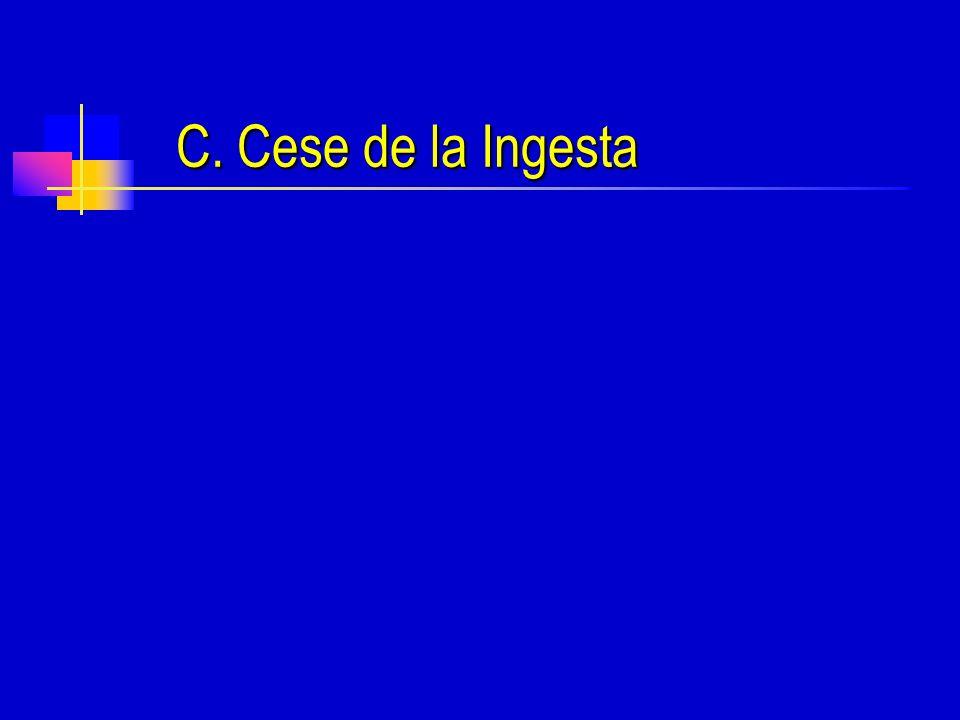C. Cese de la Ingesta
