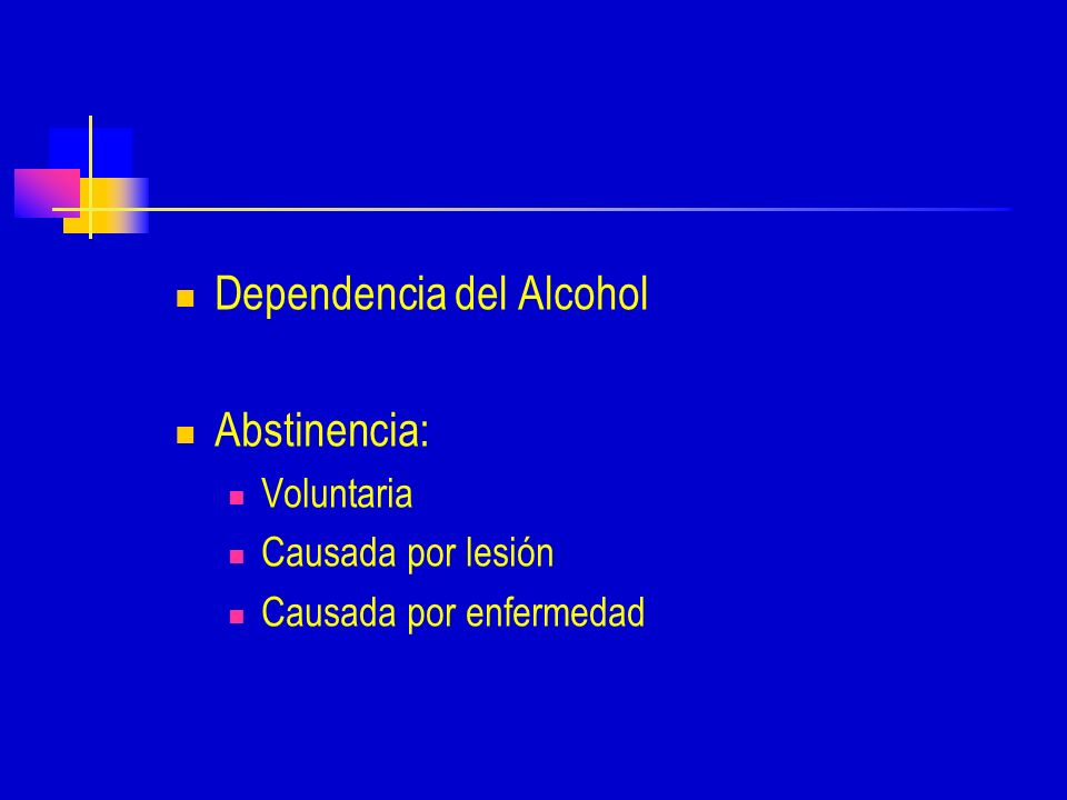Dependencia del Alcohol Abstinencia: