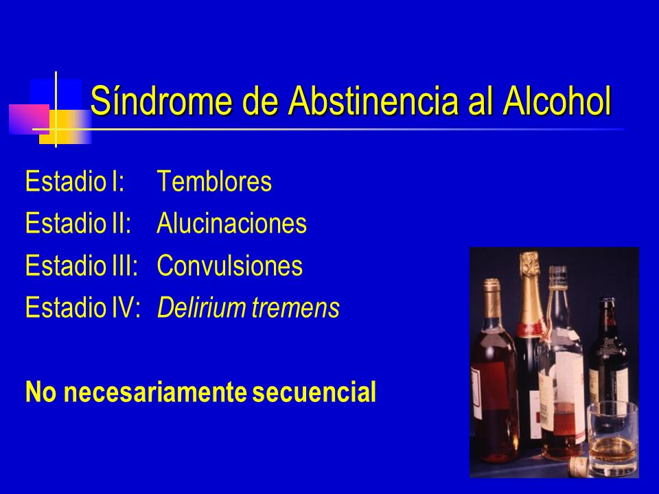 Síndrome de Abstinencia al Alcohol