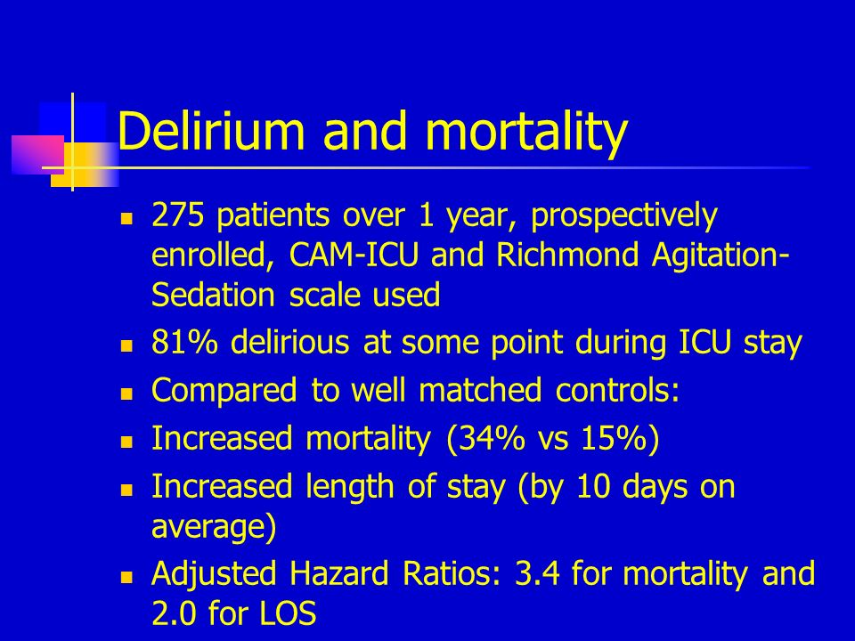 Delirium and mortality