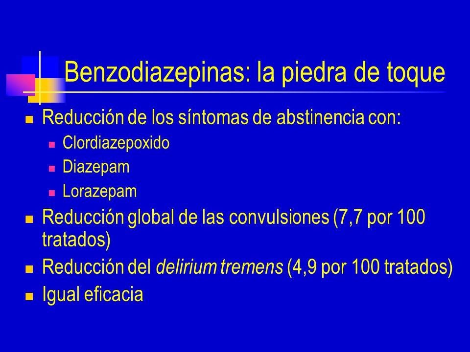 Benzodiazepinas: la piedra de toque